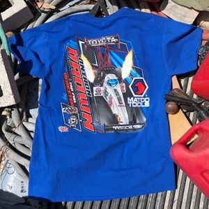 Autographed Antron Brown NASCAR Double Sided Tee